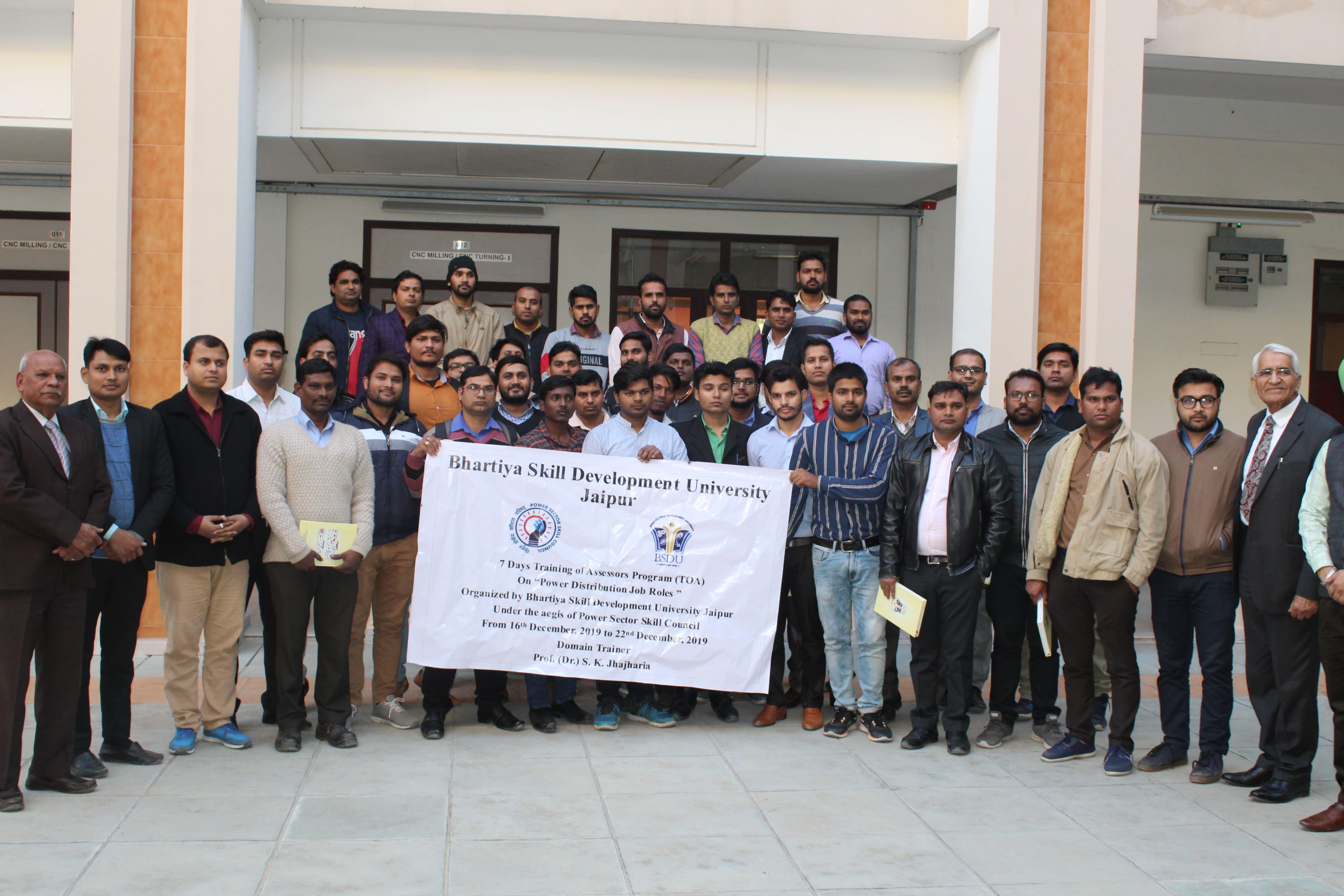 7 Day Training of Assessors Program on Power Distribution Job Roles